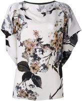 Antonio Marras floral printed panel blouse - women - Silk/Spandex/Elastane/Viscose - 46