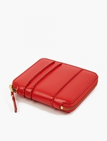 Comme des Garcons Red Raised Spike Leather Zip Wallet