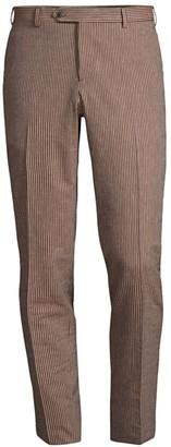 eidos Cotton-Blend Seersucker Trousers