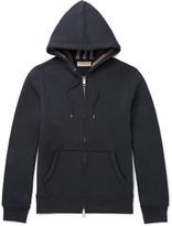 Burberry Cotton-blend Jersey Hoodie - Navy