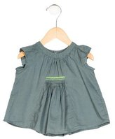 Bonpoint Girls' Embroidered Short Sleeve Top