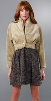 Karen Zambos Vintage Couture Faux Fur Jacket