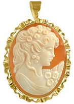 Del Gatto Young Woman Cornelian Cameo Pendant / Pin