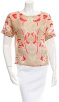 Wes Gordon Silk Printed Top