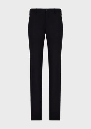 Giorgio Armani Regular-Fit Wool Flannel Trousers