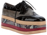 Jeffrey Campbell Tiered flat-form brogue
