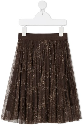 Ermanno Scervino Metallic-Thread Midi Skirt