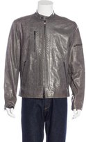 John Varvatos Pebble Leather Jacket