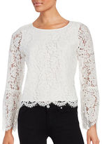 Vince Camuto Petite Bell Sleeved Lace Blouse