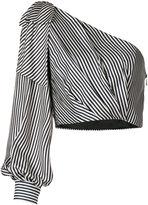 Zimmermann one shoulder striped dress