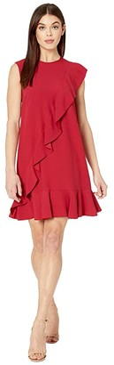 RED Valentino Ruffle Satin Crepe Dress (Ribes) Women's Dress