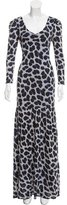 ALICE by Temperley Abstract Print Maxi Dress