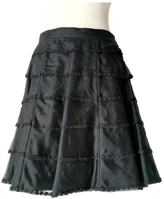 Blumarine Black Silk Skirt for Women Vintage