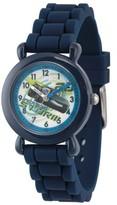 Disney 3 Jackson Storm Boys' Blue Plastic Time Teacher Watch, Blue Silicone Strap