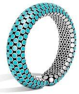 John Hardy Dot Small Turquoise Enamel Flex Cuff Bracelet