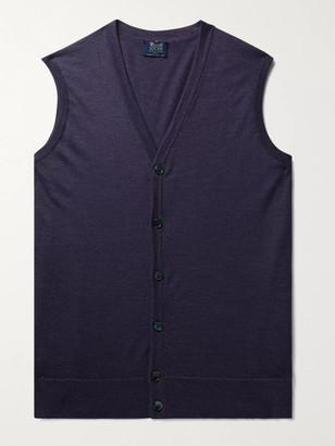 William Lockie - Slim-Fit Super 170s Virgin Wool Sweater Vest - Men - Purple