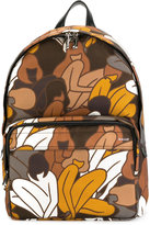 Bally floral print backpack - men - Nylon - One Size