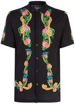 Versace Floral Knitted Polo Top