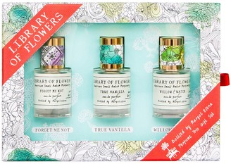 Library of Flowers 3 Piece Women's perfume Coffret ($45 Value)