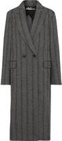 Stella McCartney Double-breasted Herringbone Wool-blend Coat