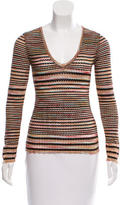 M Missoni Open Knit Metallic-Accented Top