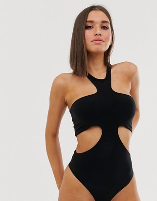 Club L London cutout body in black