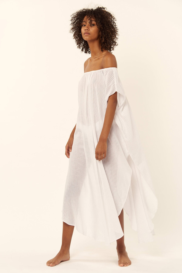Mara Hoffman Off The Shoulder Coverup Dress
