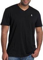 Psycho Bunny Big & Tall V-Neck Logo T-Shirt (Xl-Tall, Grey)