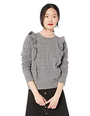 J.Crew Mercantile Women's Ruffle Trim Crewneck Sweatshirt