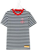 Diesel anchor print breton stripe top - kids - Cotton - 8 yrs