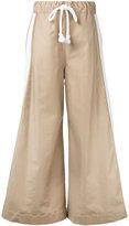 Bassike wide leg pull-on trousers - women - Cotton/Polyurethane - 8