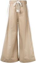 Bassike wide leg pull-on trousers