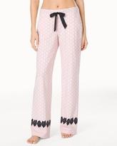 Soma Intimates Pajama Pants Big Dot Pink Bows Border RG