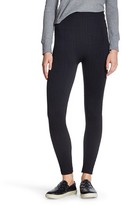 Xhilaration Juniors' Fleece Lined Leggings Black Cable