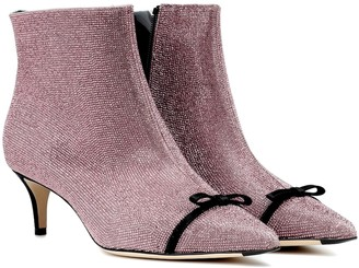 Marco De Vincenzo Embellished leather ankle boots
