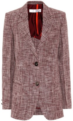Victoria Beckham Linen and wool-blend blazer