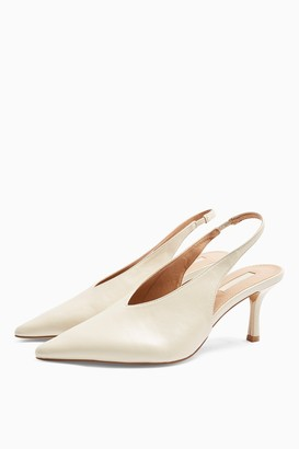 Topshop Womens **Wide Fit Jessie Ecru Point Shoes - Off White
