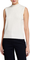 Veronica Beard Collins Mock-Neck Shell