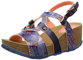 Desigual Women Bio9 Denim Patch Heels Sandals,38 EU