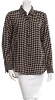 Rag & Bone Gingham Oversize Top