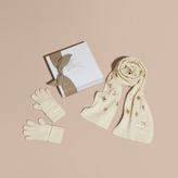 Burberry Printed Cashmere Two-piece Gift Set