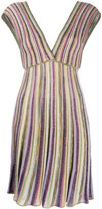 M Missoni Striped Knit Midi Dress