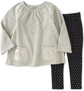 Calvin Klein Little Girls' 2-Pc. Fleece Tunic & Logo Leggings Set