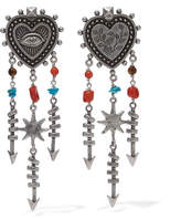 Valentino Silver-tone Beaded Earrings - one size