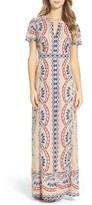 BCBGMAXAZRIA Women's Cailean Burnout Gown