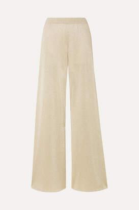 Missoni Metallic Stretch-knit Wide-leg Pants - Gold