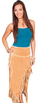 Scully Women's Long Suede Fringe Skirt L659