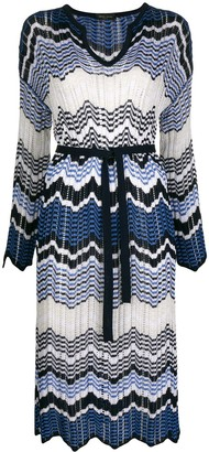 Roberto Collina Zig-Zag Print Knit Dress