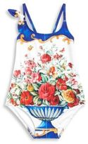 Dolce & Gabbana One-Piece Floral-Print Swimsuit