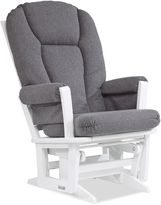 Dutailier Modern Glider in White/Charcoal